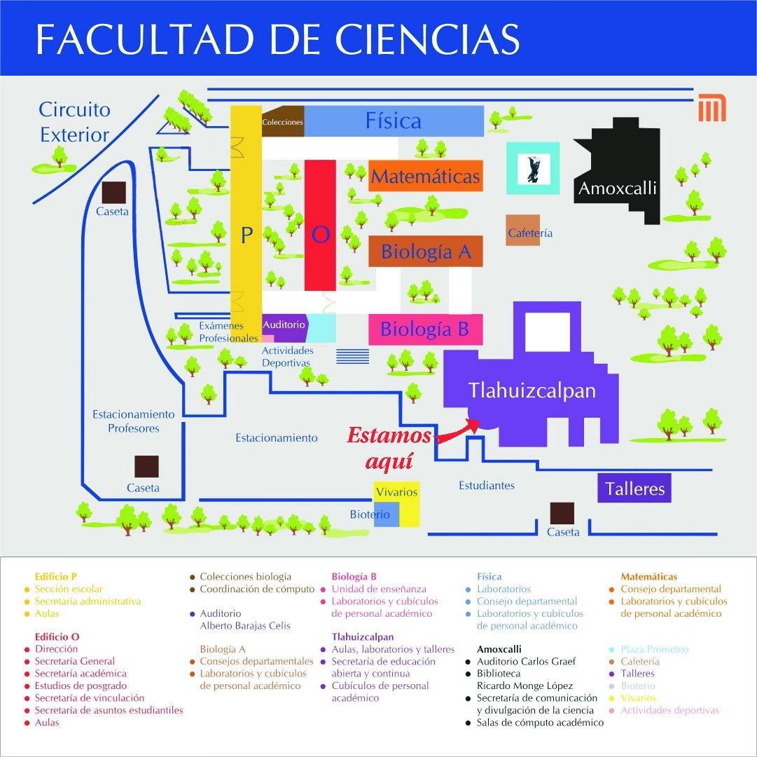Secretar a de educaci n abierta y continua facultad de for Mapa facultad de arquitectura